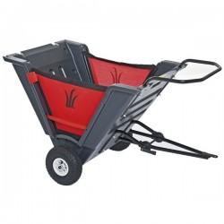 Skládací tažený vozík za traktory s tažným zařízením