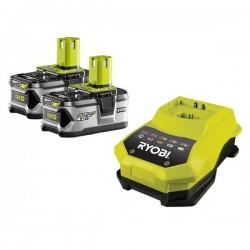 Ryobi RBC18 LL40 sada 2x 18 V lithium iontová baterie 4,0 Ah s nabíječkou