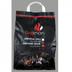 Dřevěné uhlí GRILLMAN 2kg