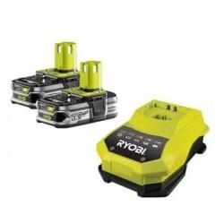 Ryobi RBC18 LL15 - sada 2x 18 V lithium iontová baterie 1,5 Ah s nabíječkou