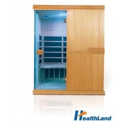 HealthLand infrasauna DeLuxe 3300 Carbon-BT