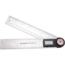Úhloměr digitální, 200mm, s pravítkem