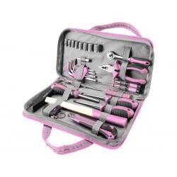 Sada nářadí 39ks, růžová barva, Extol Craft 6596