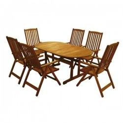 Zahradní stolová sestava MERANTI PARIS SET 6