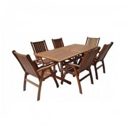 Zahradní stolová sestava MERANTI VICTORIA SET 6