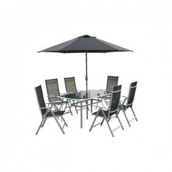 Zahradní stolová sestava se slunečníkem VeGAS 6-AL