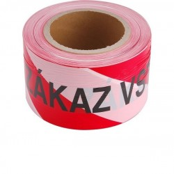 Páska výstražná červeno-bílá ZÁKAZ VSTUPU, 75mm x 250m, PE