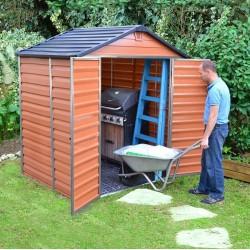 Zahradní domek Skylight 6x5 hnědý