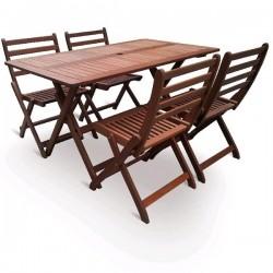 Dřevěná stolová sestava VeGA SET 4