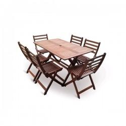 Dřevěná stolová sestava VeGA SET 6