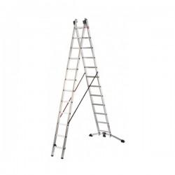 Hliníkový dvoudílný žebřík ProfiLot combi (2 x 12 příček) 9412-501