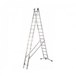 Hliníkový dvoudílný žebřík ProfiLot combi (2 x 15 příček) 9415-501