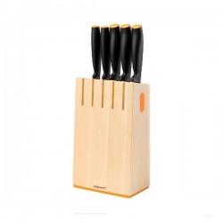 Fiskars Sada NEW FunctionalForm dřevěný blok na nože s 5 noži 102637