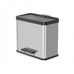Odpadkový koš na tříděný odpad Hailo 0630-200 Öko Duo PLUS L nerez