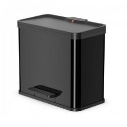 Odpadkový koš na tříděný odpad Hailo 0630-260 Öko Duo PLUS L černý