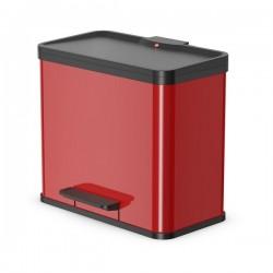 Odpadkový koš na tříděný odpad Hailo 0630-240 Öko Duo PLUS L červený