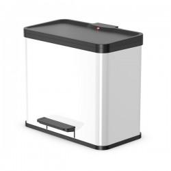 Odpadkový koš na tříděný odpad Hailo 0630-230 Öko Duo PLUS L bílý