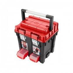 Kufr na nářadí HD, 450x350x450m, AL rukojeť, kov. přezky