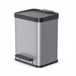 Hailo Öko Duo PLUS M odpadkový koš 0622-220 stříbrný