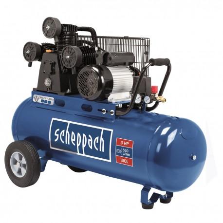 HC 550 tc - olejový tříválcový řemenový kompresor 100 l