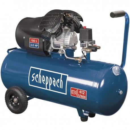 Scheppach HC 120 dc olejový dvouválcový kompresor 10 bar se vzdušníkem 100 l