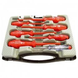 Šroubováky elektrikářské se zkoušečkou, sada 7ks Extol Craft 53085