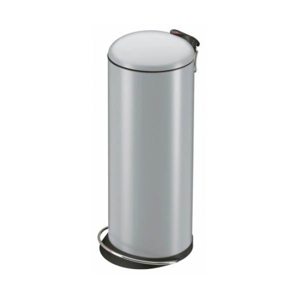 Nášlapný odpadkový koš Hailo Trento TOPdesign L stříbrný 0523-519