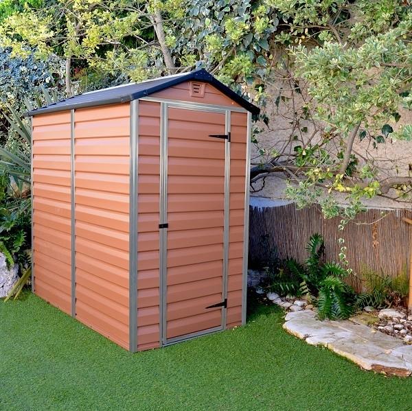 Zahradní domek Skylight 4x6 hnědý