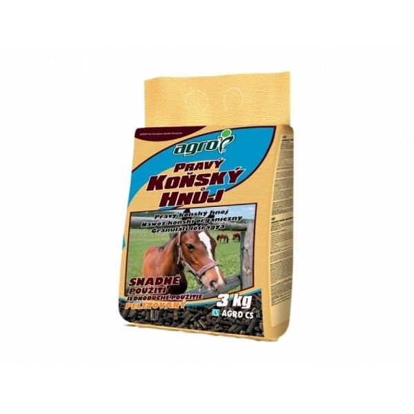 AGRO AGRO Koňský hnůj 3 kg Koňský hnůj 3 kg 000774