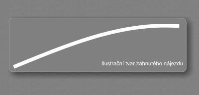 Nájezdy hliníkové- zahnutý 2,0m SUPER CENA hliníkový nájezd 2,0m