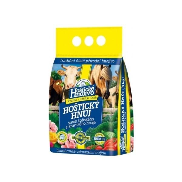 Hoštický hnůj směs /koňský + kravský/ 3kg Hoštický hnůj směs
