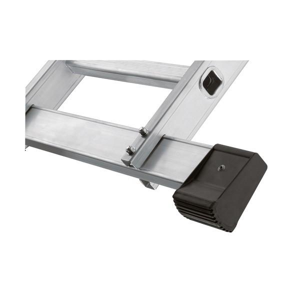 Hailo CZ Hliníkový čtyřdílný kloubový žebřík s plošinou (4 x 3 příčky) 7412-031 7412-031