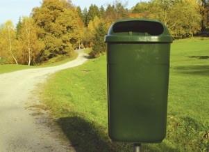 Venkovní odpadkový koš Classic 50l